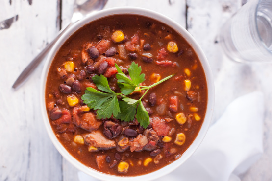 Recipe - Chicken and Blackbean Soup | 3 And A Half Cafe
