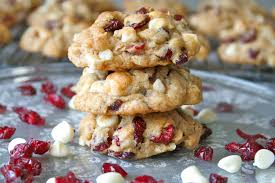 Oatmeal Coconut Cookies With Cranberries & White Chocolate
