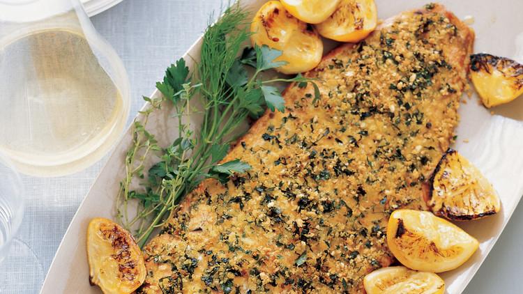 Herb and Caper Crusted Salmon Recipe | Ashishh Gupta